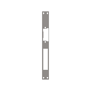 Access control. Plate for electrical strike with rectangular edge - model 1