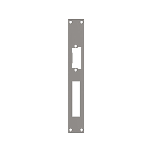 Access control. Plate for electrical strike with rectangular edge - model 2