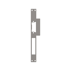 Access control. Plate for electrical strike with rectangular edge - model 3