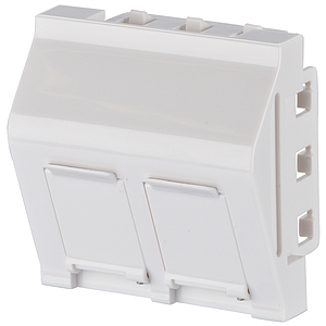 M45 data outlet-adapter (Keystone), 2-v, wit, leeg - VPE=40